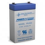 PS-632 - 6 Volt 3.5 Ah Sealed Lead Acid Battery
