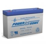 PS-670 - 6 Volt 7 Ah Sealed Lead Acid Battery