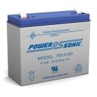 PS-4100 - 4 Volt 10 Ah Sealed Lead Acid Battery
