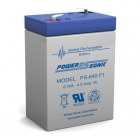 PS-640 - 6 Volt 4 Ah Sealed Lead Acid Battery
