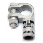 1/0 Gauge Left Elbow Compression Terminal Clamp Connector